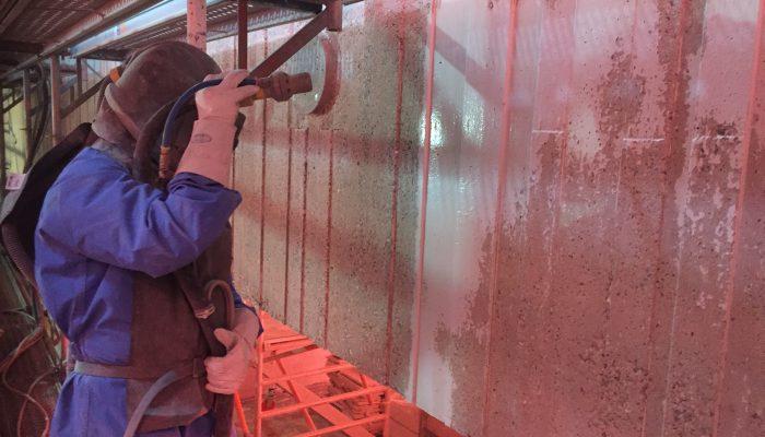 Stralen beton oranje gloed